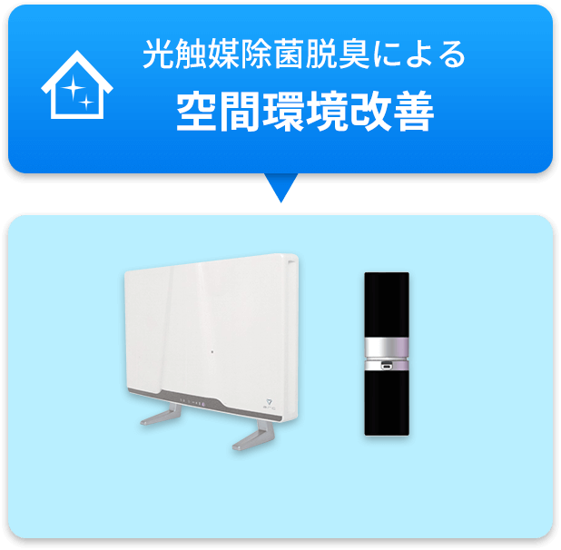 光触媒除菌脱臭による 空間環境改善